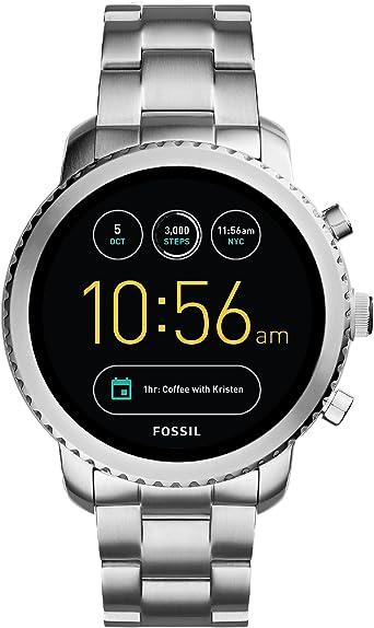 Fossil Reloj Hombre de Digital con Correa en Acero Inoxidable ...