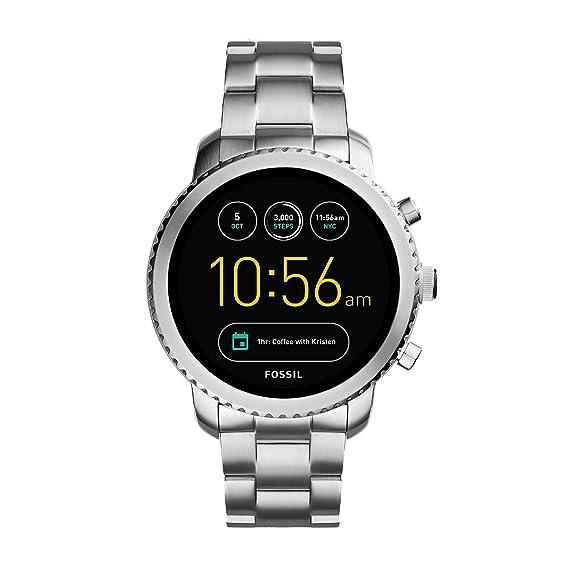 Fossil Reloj Hombre de Digital con Correa en Acero Inoxidable FTW4000