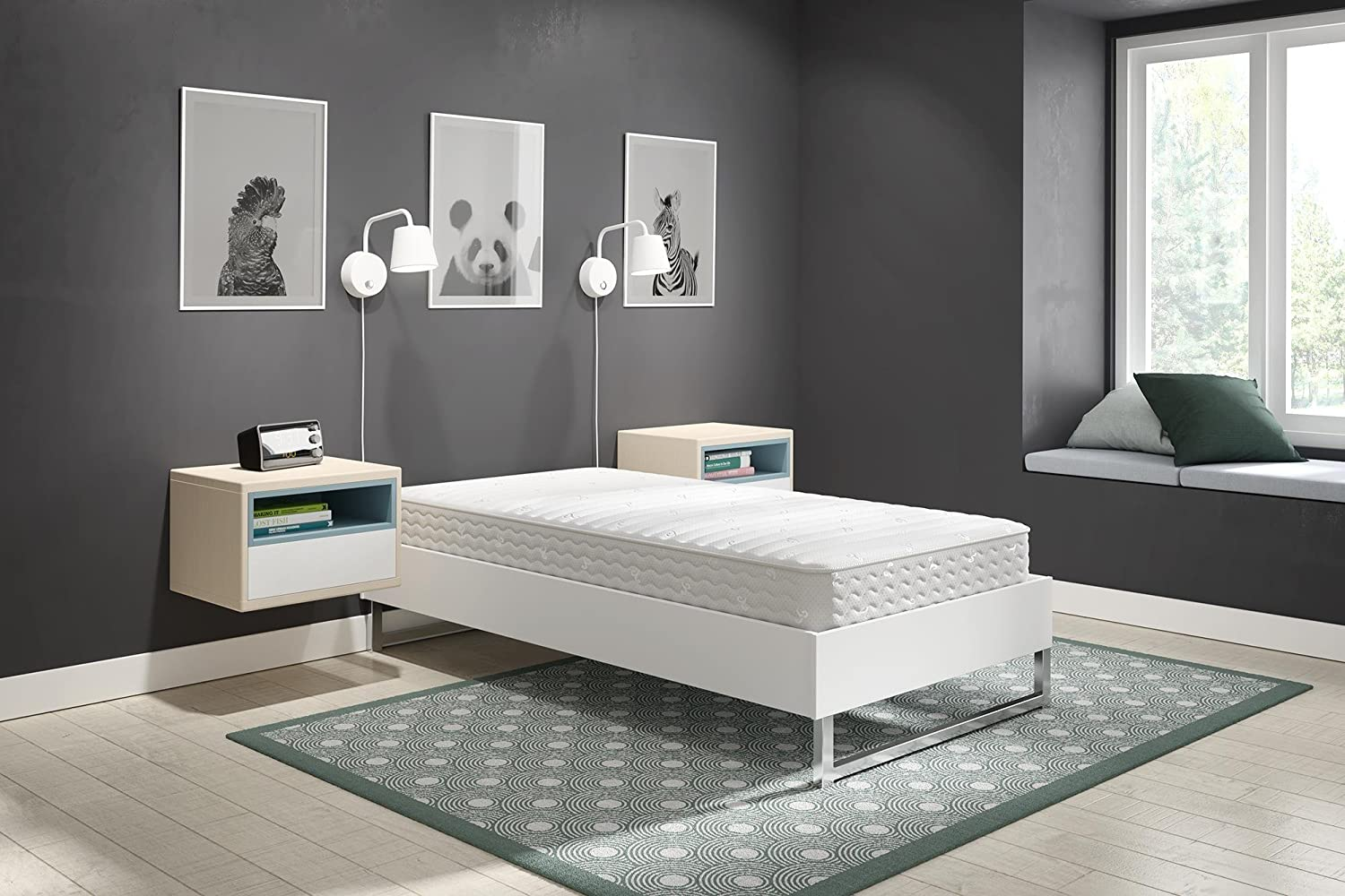 Furniture Independent Double Bed Base With 2 Storage Drawers Fixing Prices According To Quality Of Products Bed Frames & Divan Bases