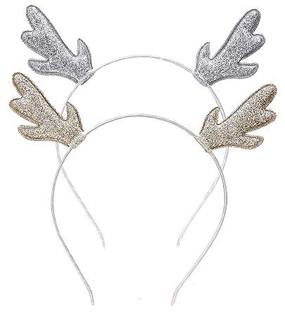 aozky deer antlers reindeer headband costume christmas halloween holiday party