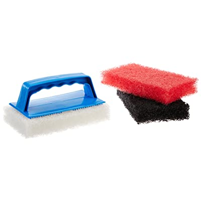 Star Brite Scrub Kit - 3 Different Textured Cleaning Pads & 1 Interchangeable Handle for Simple, Easy Clean Up: Sports & Outdoors