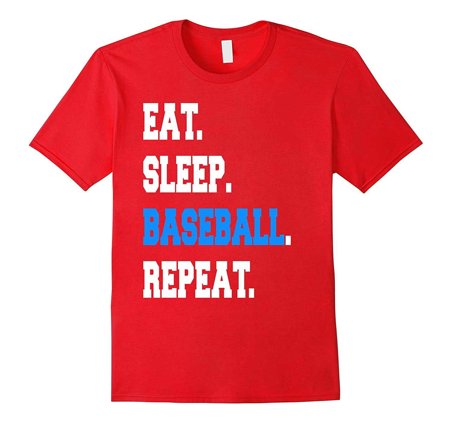 Cool Eat Sleep Baseball Repeat Coach Parent Sayings T-shirt-TH