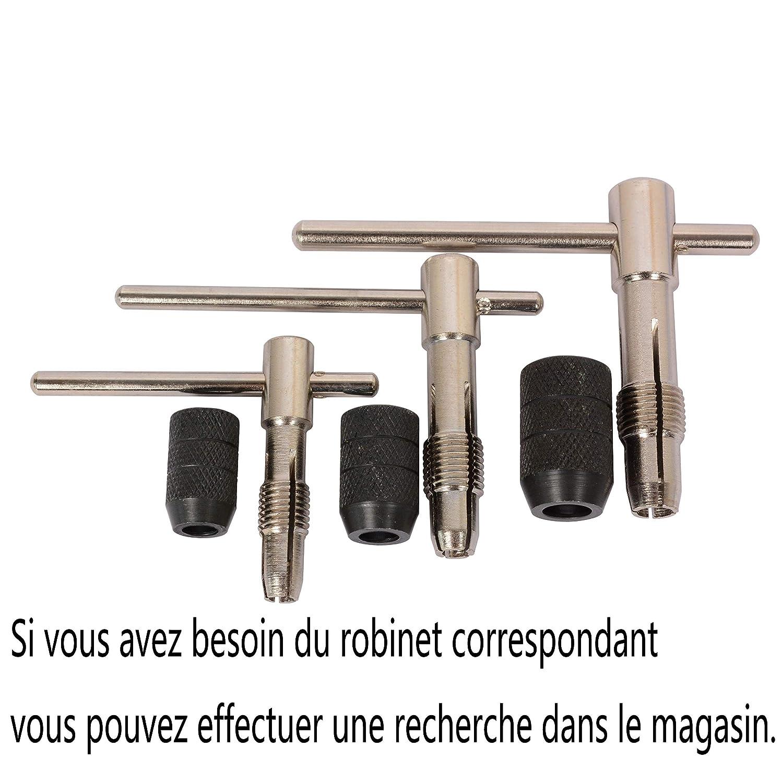 M6 M12 Porte-taraud /à Cliquet Alli/é Ajustable De Haute Qualit/é Pour La Fixation Du Robinet Costume M3-M6 M5//M8