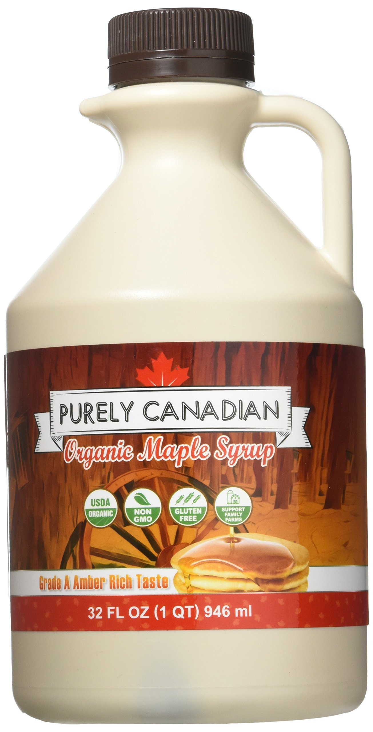 a9d733d286d Organic Maple Syrup - 32 Oz. Jug - 100% Pure Canadian Maple Syrup -