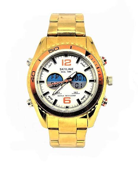 Reloj Skyline Dorado Fondo 2018