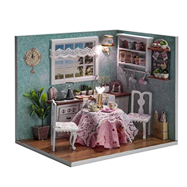 diy doll furniture. Cefrank DIY Dollhouse Furniture Kit Mini Handmade Kitchen Doll House 3d  Puzzle Building Toys Decoration Christmas Diy Doll Furniture