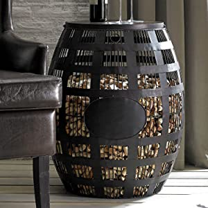 Wine Enthusiast Barrel Cork Catcher Side Table – Holds 2,000 Corks