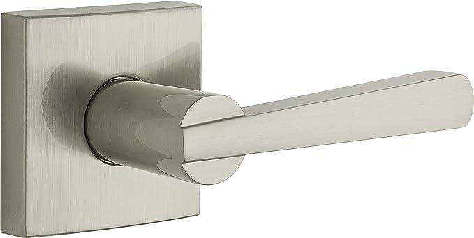 Interior Door Handle with Privacy Lock 9GLC3310-026 Satin Nickel Weiser Ladera Lever for Bedroom//Bathroom