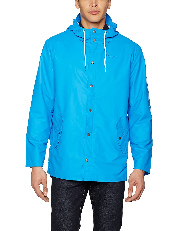 Bleu (Middle bleu) M Pepe Jeans Rainy Manteau Homme