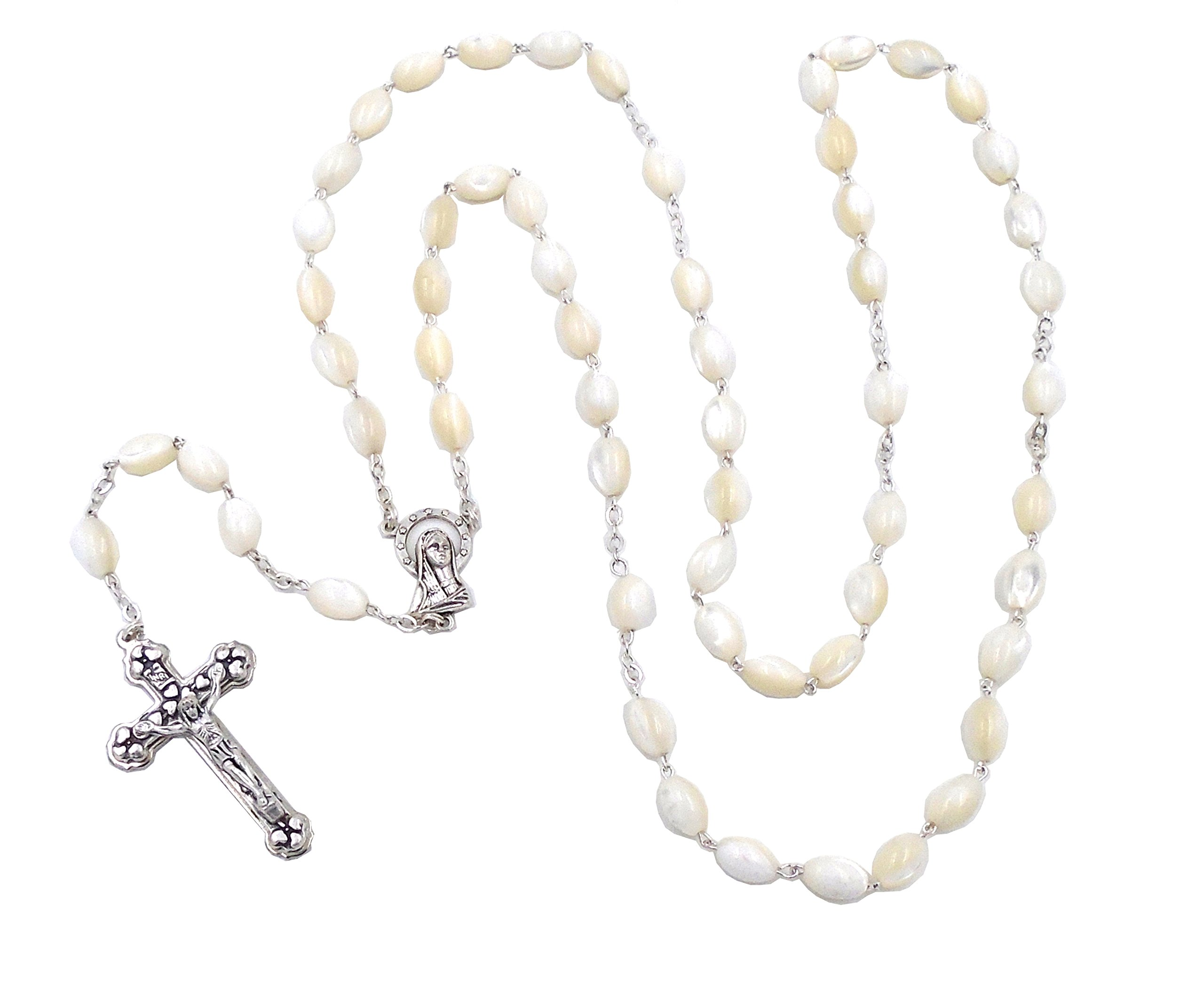 Ivory ''Mother of Pearl'' Rosary by J.C. Walsh & Sons- Made In Ireland by Connemara