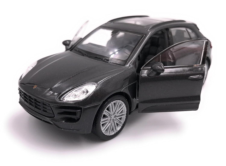 Welly Porsche Macan SUV Model Car Auto License Prodotto 1: 34-1: 39 Nero