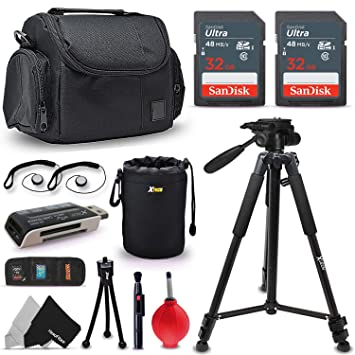 Amazon.com: Kit de accesorios para Canon EOS Rebel T7i T7 ...