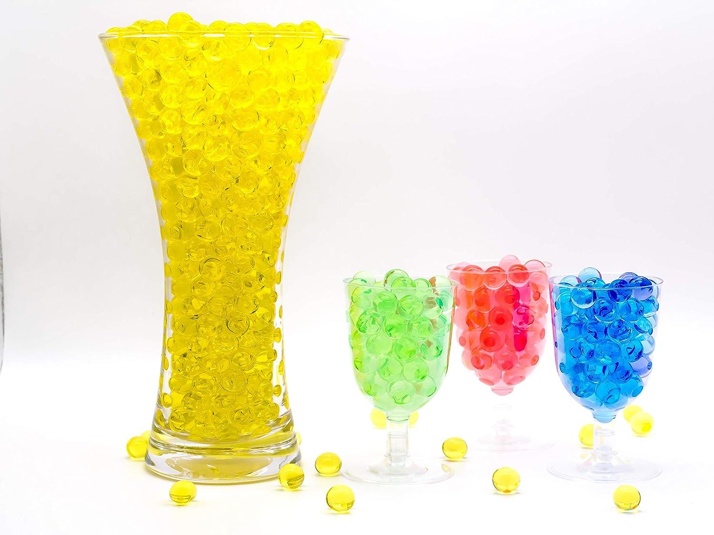 per Centrotavola Fiori e Piante Sfere Acqua per Piante Palline Sfere di Acqua Risai Perle Gel per Vasi Colorate Arancione Decorazioni