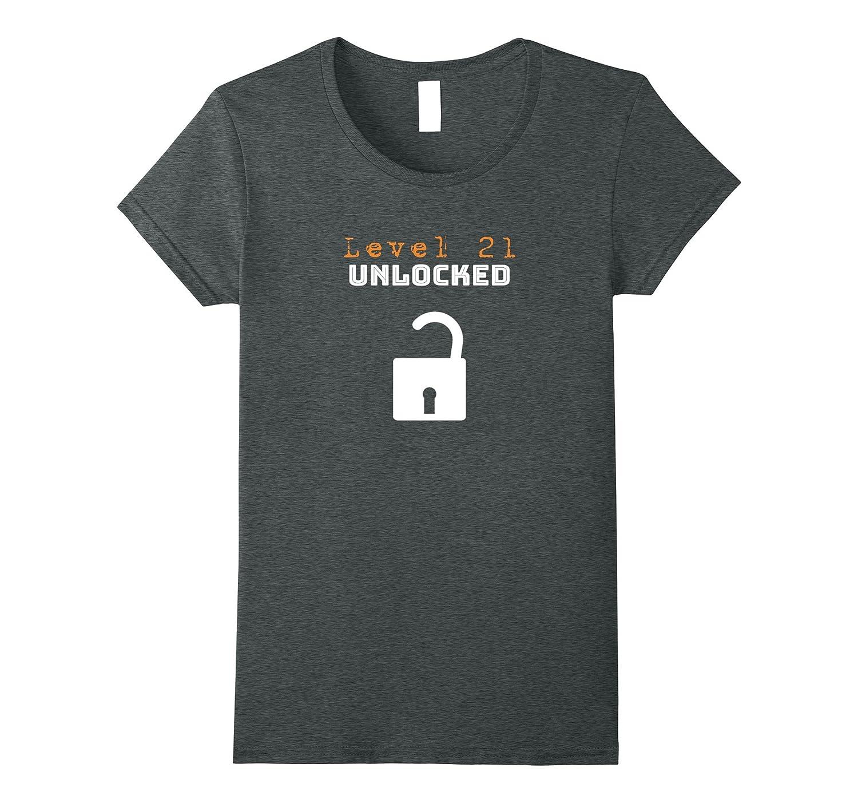 21st Birthday Shirt Gifts – Level 21 Unlocked