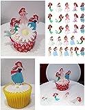 Princess Ariel X271Set Kuchen Party steht auf, essbares Wafer Karte