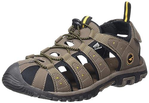 Hi-Tec - Zapatillas de cuero para hombre Beige beige, color Beige, talla 45