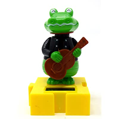 Greenbrier Solar Dancing Musician - Crocodile: Toys & Games
