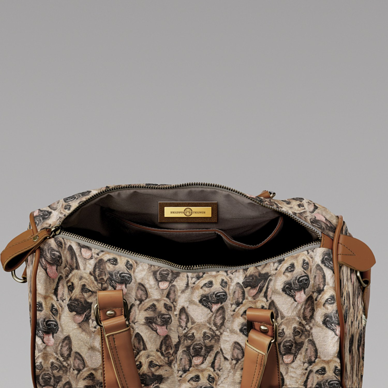 Constant Companion Dog Lovers Cotton Blend Tapestry Handbag: German Shepherd by The Bradford Exchange by Bradford Exchange (Image #4)