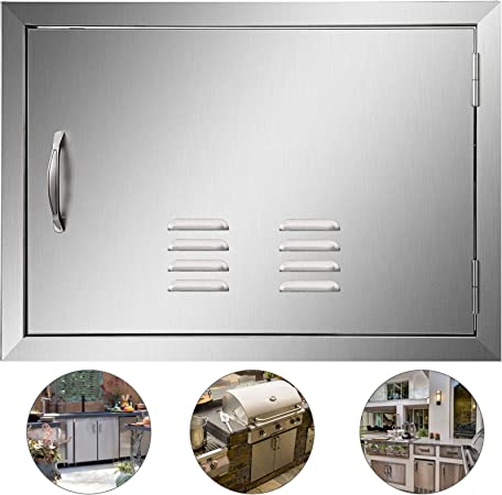 Amazon Com Mophorn Bbq Access Door 24 X 17 Inch Horizontal Island Door With Vents Stainless Steel Single Access Door Flush Mount Outdoor Kitchen Home Improvement