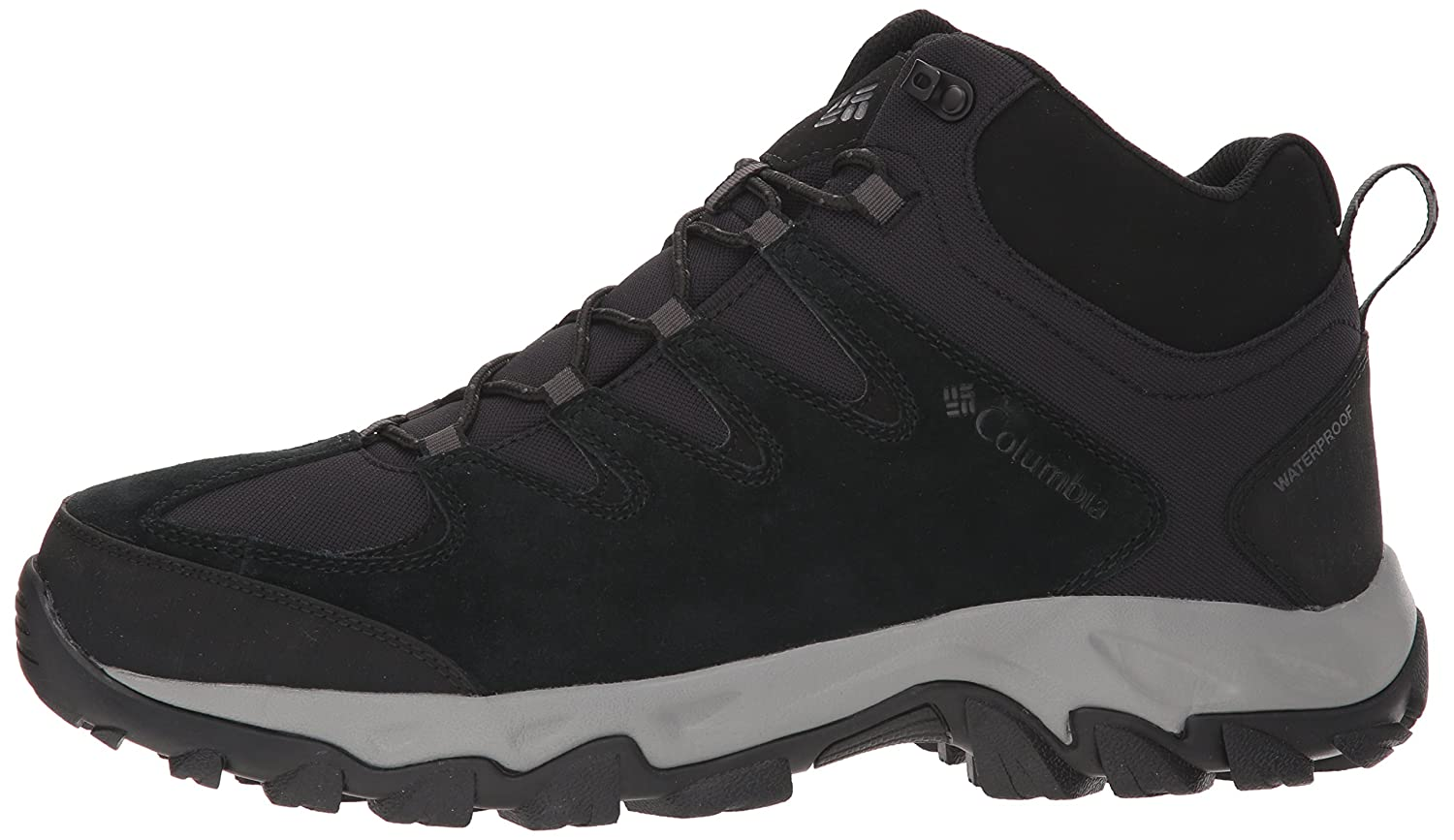 8f49f7c992 Amazon.com | Columbia Men's Buxton Peak MID Waterproof Wide Hiking Boot,  Black, lux, 7 US | Boots
