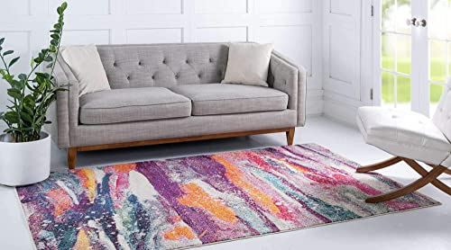 Unique Loom Chromatic Collection Modern Abstract Colorful Kids Multi Area Rug 9' 0 x 12' 0