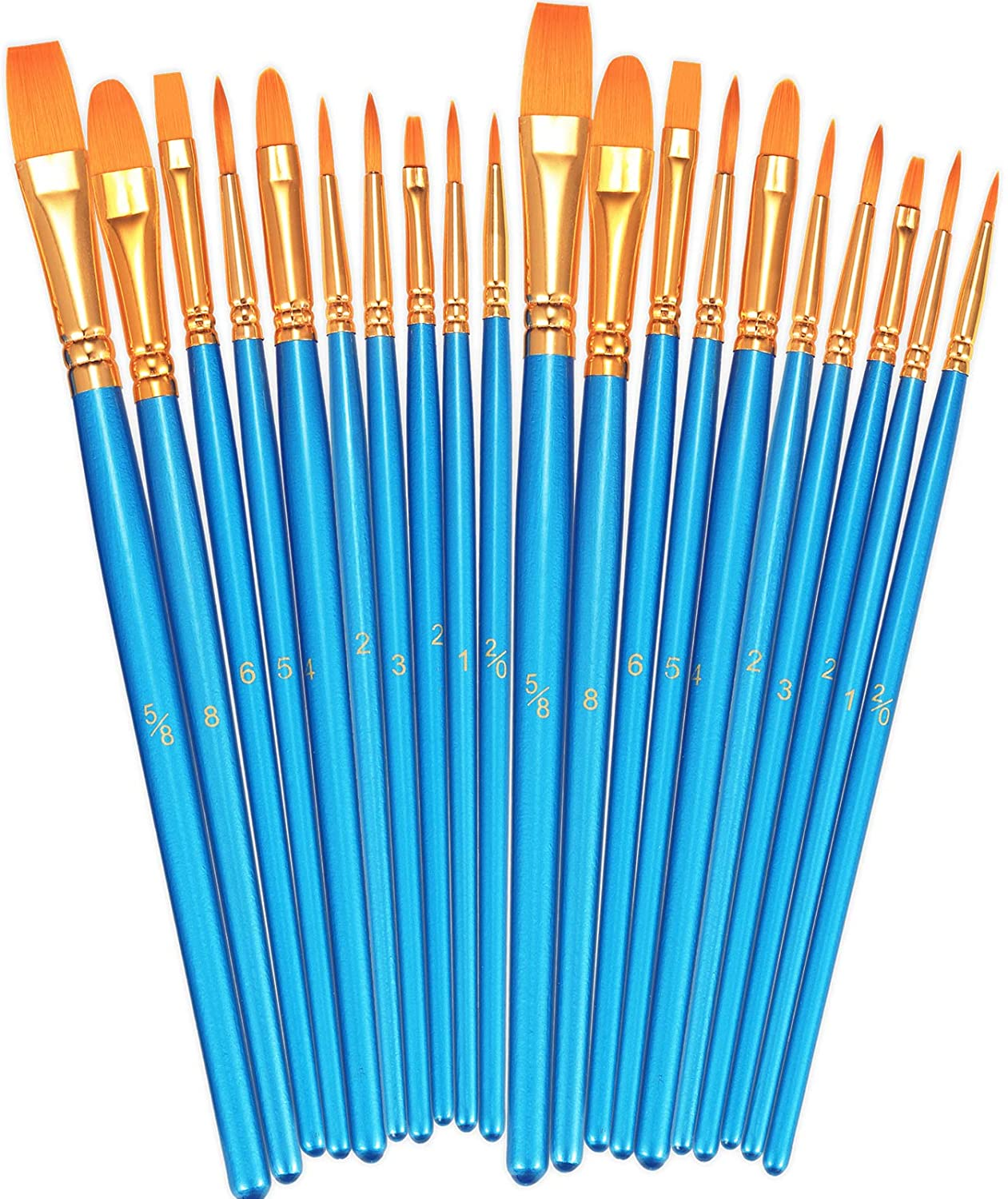 Set of 3 Paint Brushes Paint Brush Set with No Bristle Loss Pack of Paint Brushes for DIY Wood Gloss Wall Furniture Indoor /& Outdoor Painting Free Decorating Guide