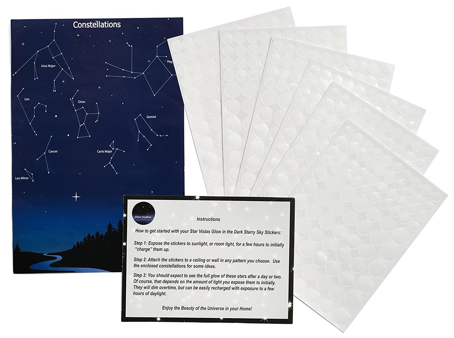 amazon com glow in the dark star stickers 528 pack with bonus amazon com glow in the dark star stickers 528 pack with bonus constellation map long lasting self adhesive dots provide realistic starry sky view on