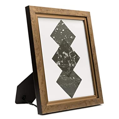 8x10 Picture Frame Bronze Copper - Wall Mount or Desktop Display, Frames by EcoHome