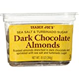 Trader Joe's Sea Salt & Turbinado Sugar Dark Chocolate Almonds 10 oz