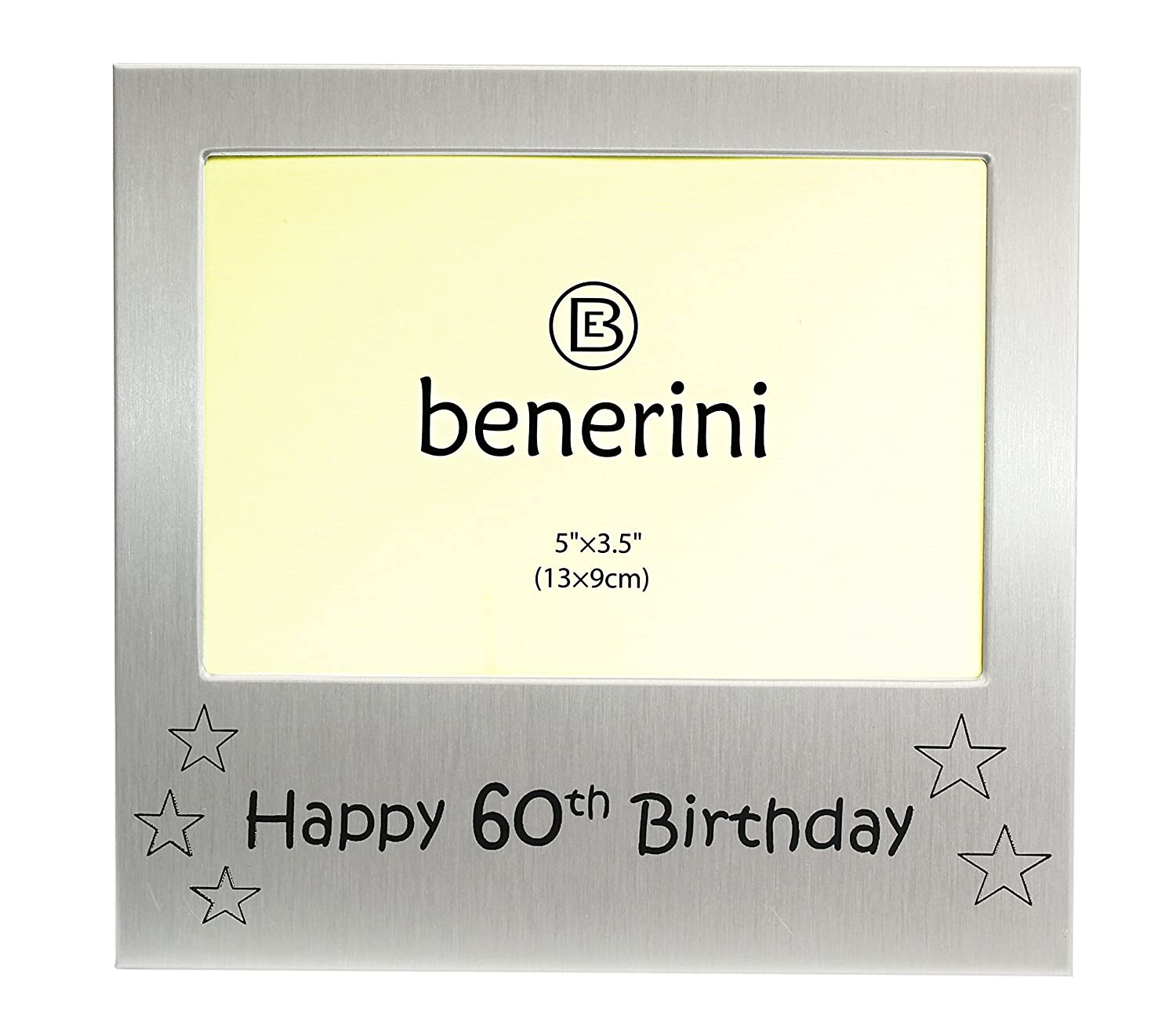 "5/"" x 3.5/"" Happy 60th Birthday Photo Picture Frame"