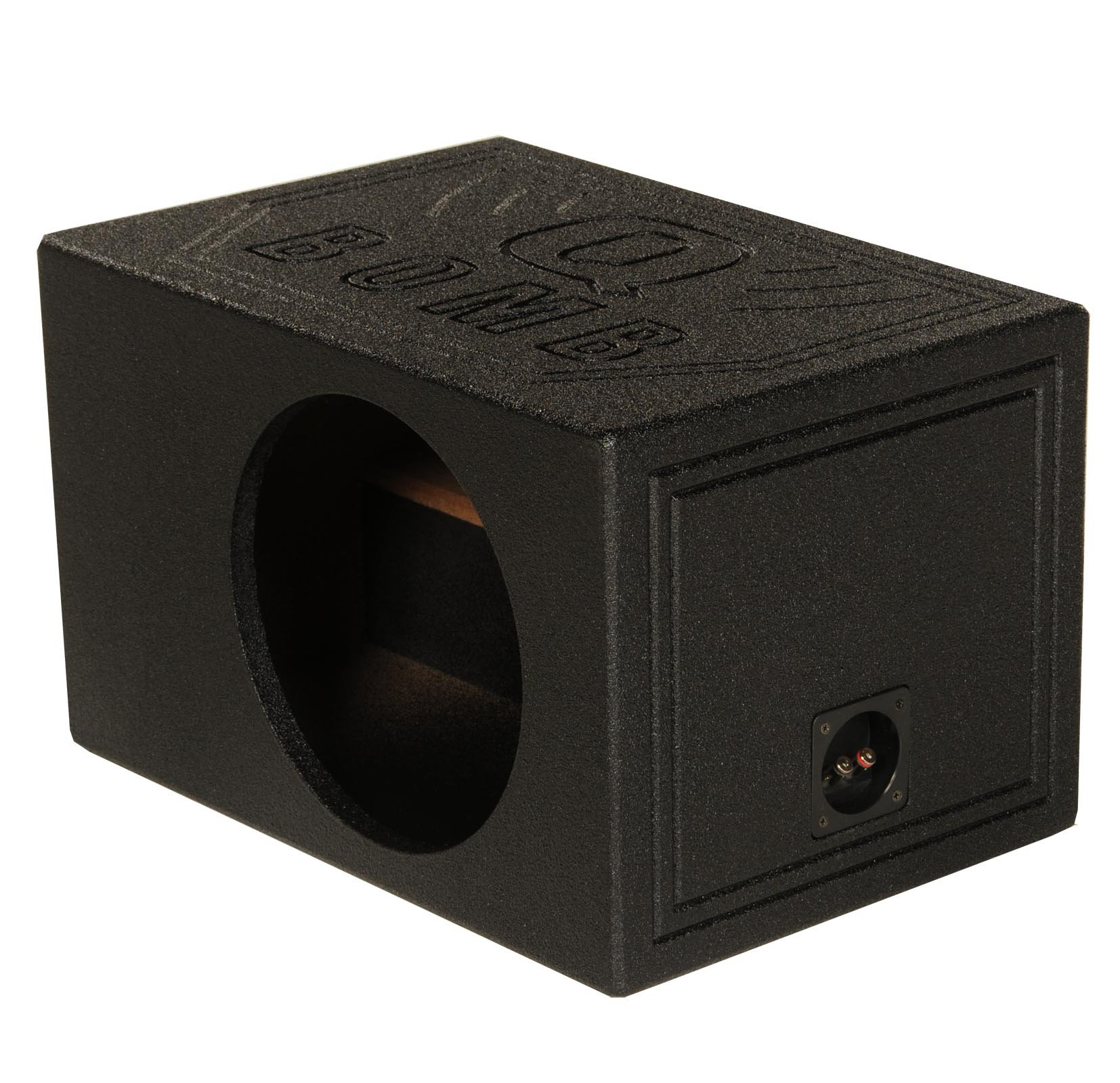 Q Power QBOMB10VL Single 10'' QBomb Side Ported Subwoofer Enclosure by Q Power