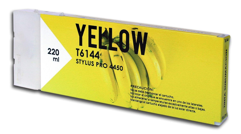 Cartucho Sublimación Reciclado Epson T6144 Amarillo de 220 ...
