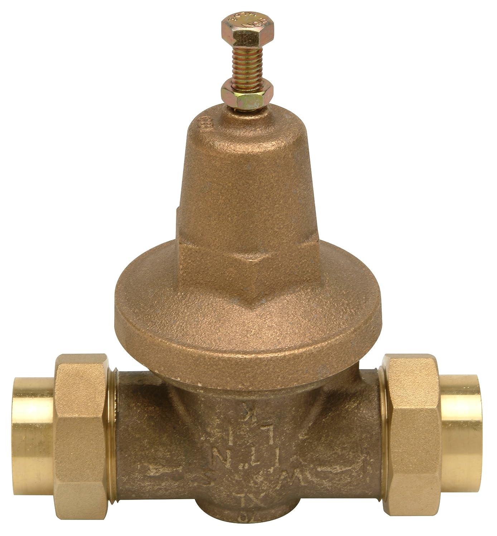 """Zurn 1-70XLDU Lead Free Water Pressure Reducing Valve, 1"""" Double Union FNPT, Bronze"""