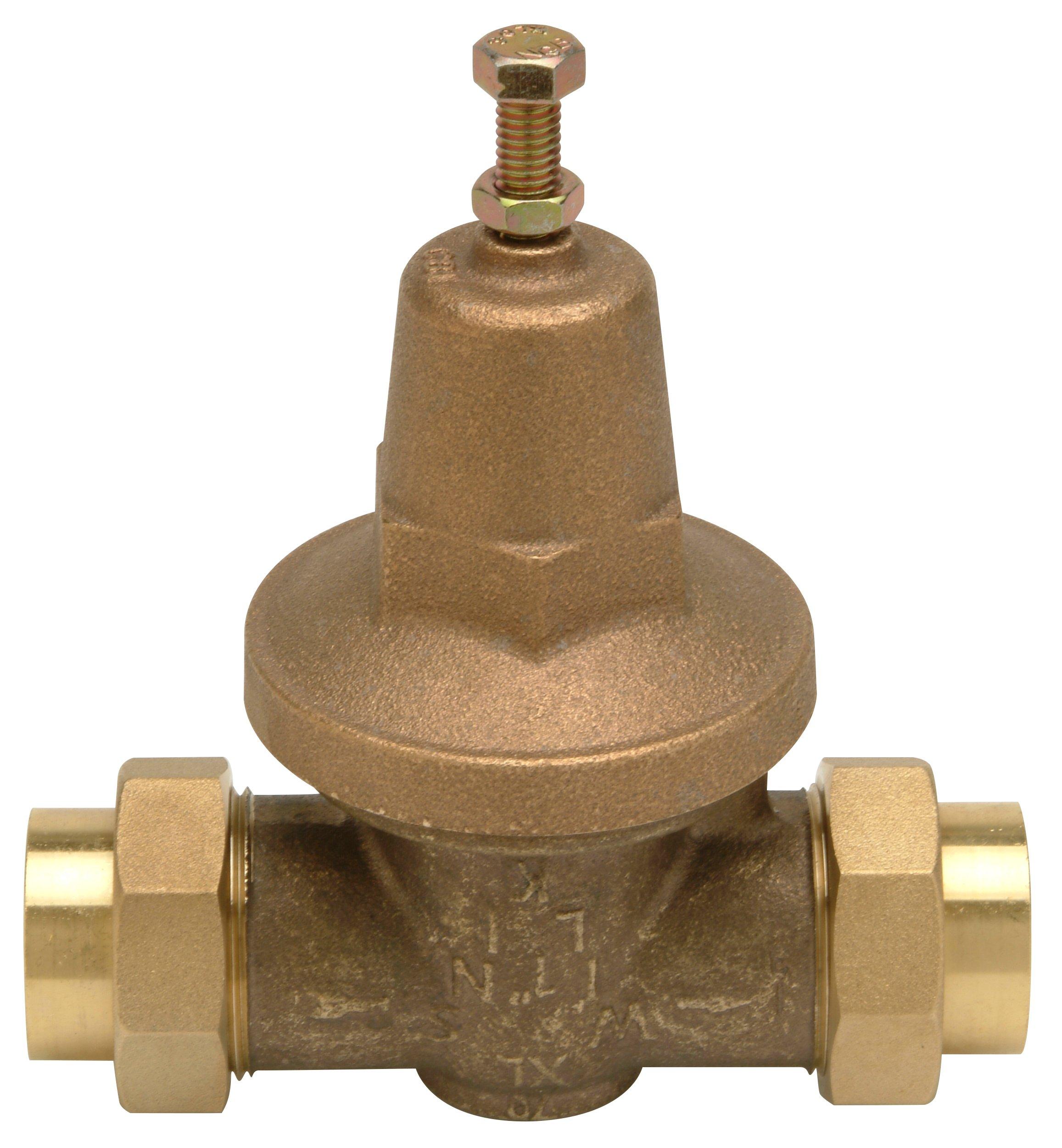 Zurn 1-70XLDU Lead Free Water Pressure Reducing Valve, 1'' Double Union FNPT, Bronze by Zurn