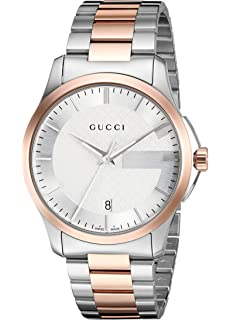 3188ddfd84c Gucci Swiss Quartz Stainless Steel Dress Two-Tone Men s Watch(Model   YA126447)