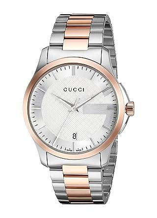 6c7f3eb9200 Gucci Swiss Quartz Stainless Steel Dress Two-Tone Men s Watch(Model   YA126447)
