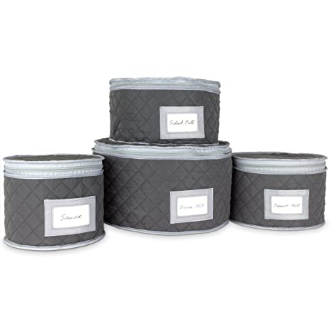Merveilleux Fine China Storage   Set Of 4 Quilted Cases For Dinnerware Storage. Sizes:  12u0026quot