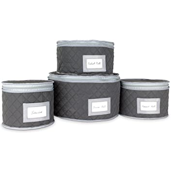 Great Fine China Storage   Set Of 4 Quilted Cases For Dinnerware Storage. Sizes:  12u0026quot