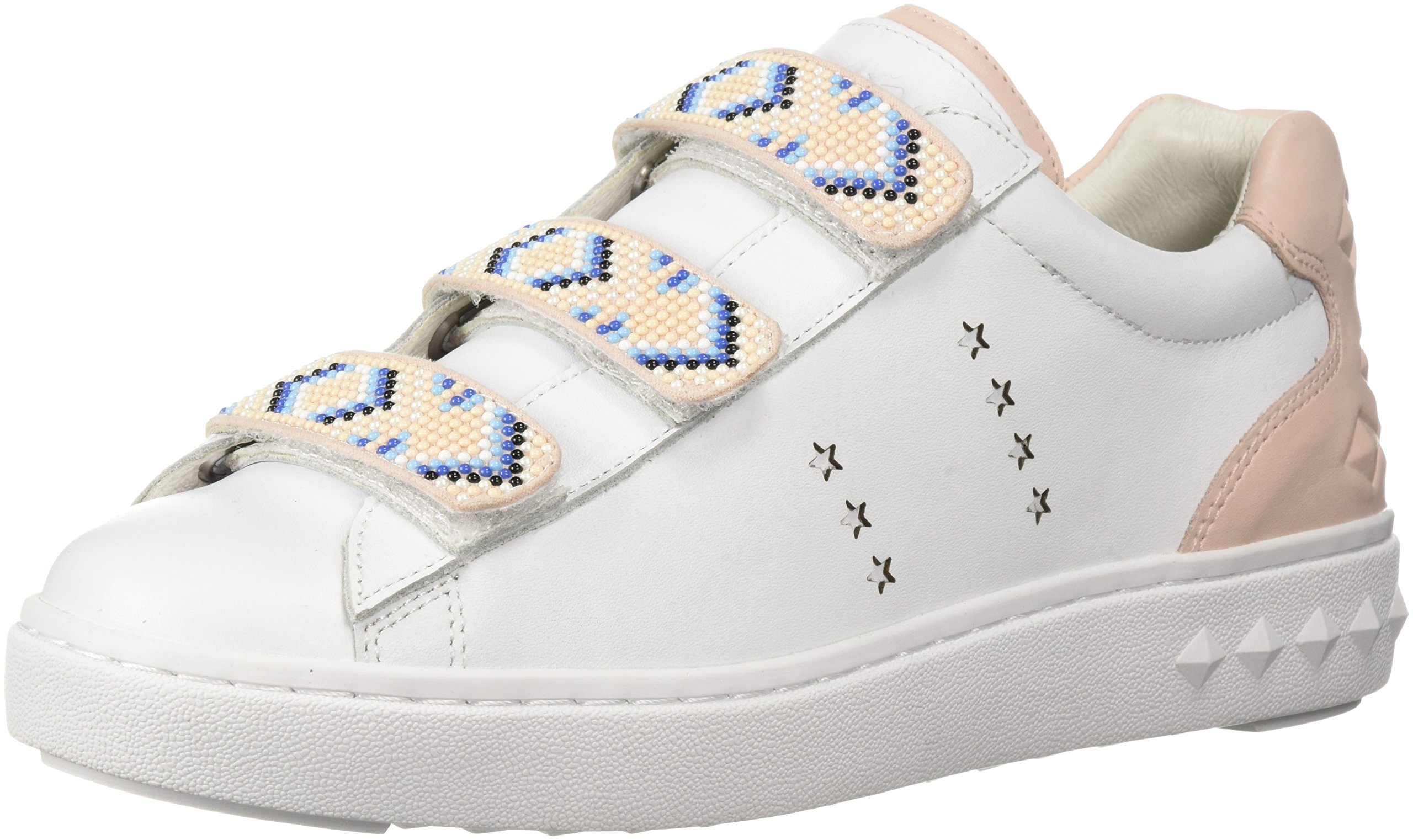 Ash Women's AS-Pharell Sneaker, White/Powder, 39 M EU (9 US)
