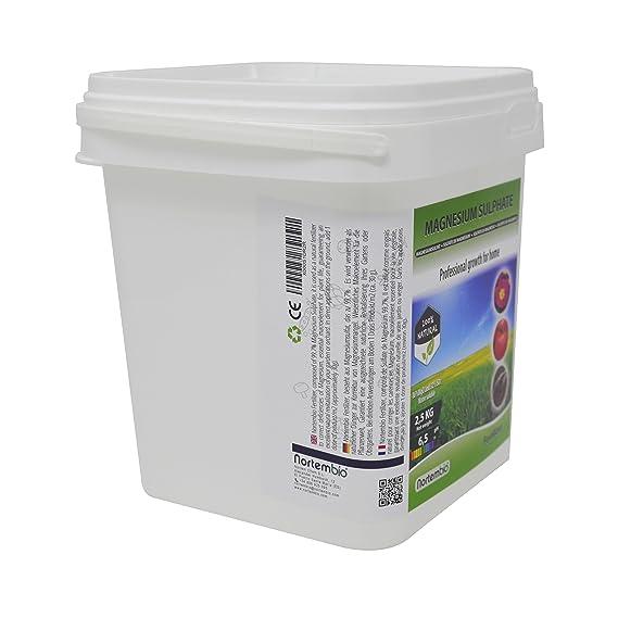 Nortembio Sulfato de Magnesio 2, 5 kg, Abono universal, Fertilizante Natural para Cultivos, Plantas de Interior y Exterior.: Amazon.es: Jardín