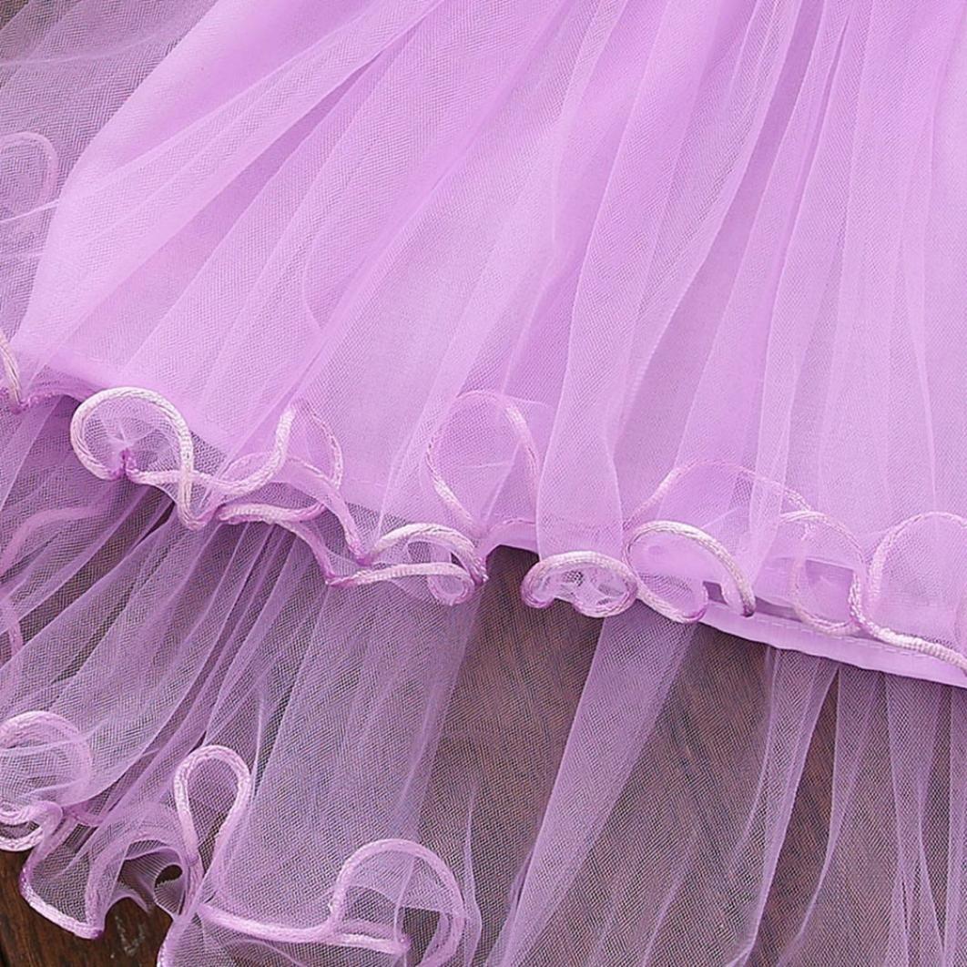 c5baae3de609 Vestidos bebé niña ❤ Amlaiworld Vestido floral de verano para niñas  pequeñas Vestido de fiesta de tul princesa para bebé niña Recién nacido ...