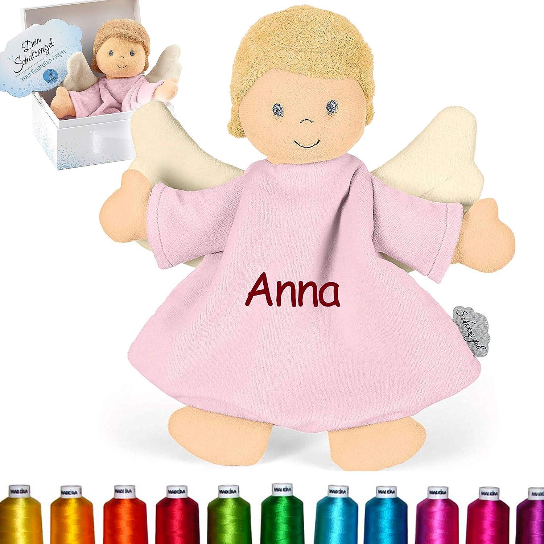 3211838, Ab dem 1 Emmi Girl M M/ädchen Rosa Monat LALALO Sterntaler Kuscheltuch // Schmusetuch Bestickt mit Namen f/ür Baby /& Kinder personalisiert