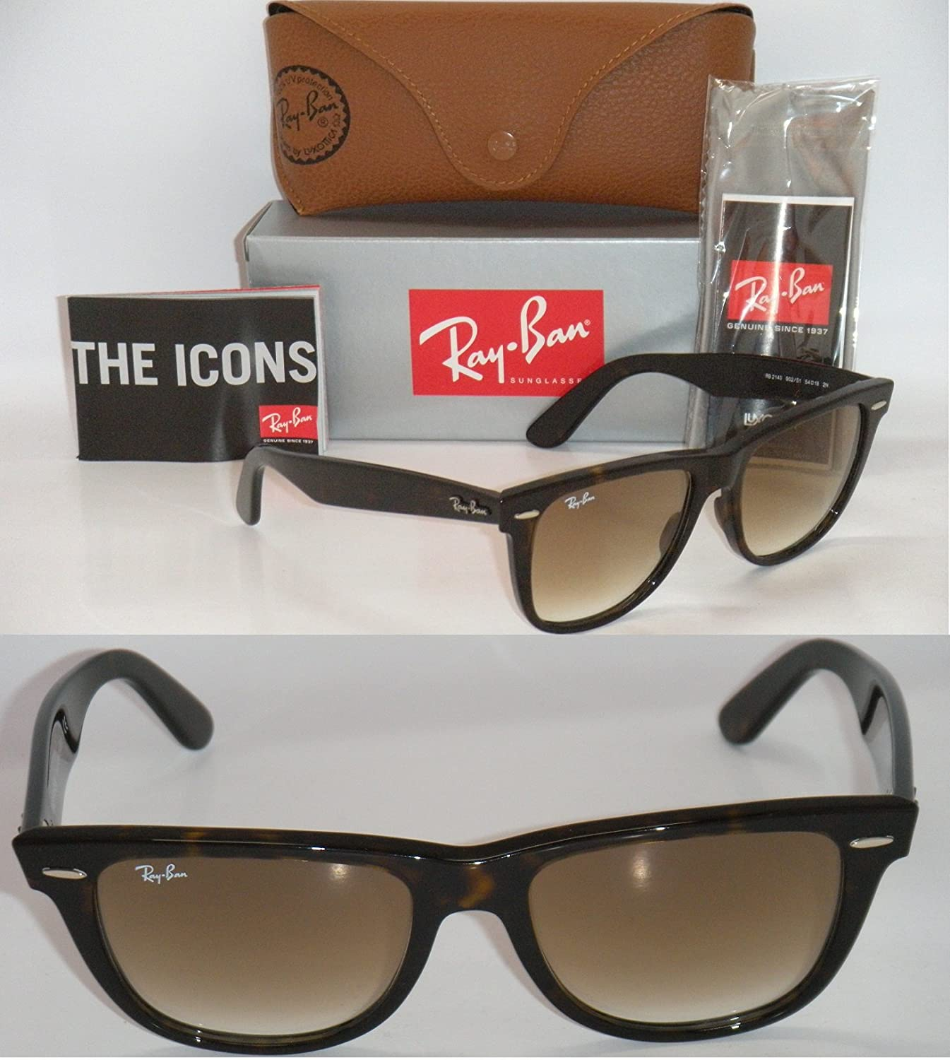 56f420629be Amazon.com  RAY BAN ORIGINAL WAYFARER TORTOISE  BROWN GRADIENT RB 2140 902  51 54MM AUTHENTIC  Shoes