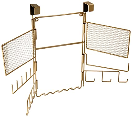 Amazon.com: InterDesign Classico Over The Door Fashion Jewelry Organizer  For Rings, Earrings, Bracelets, Necklaces   Over Door, Pearl Brass: Home U0026  Kitchen