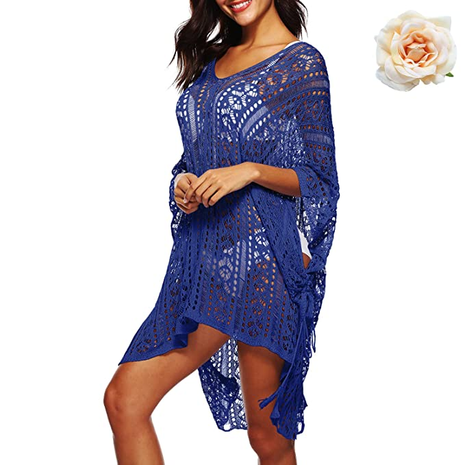 Fast Deliver Sexy Bikini Beach Cover-up Swimsuit Covers Up Bathing Suit Summer Beach Wear Knitting Swimwear Mesh Beach Dress Tunic At All Costs Women's Clothing