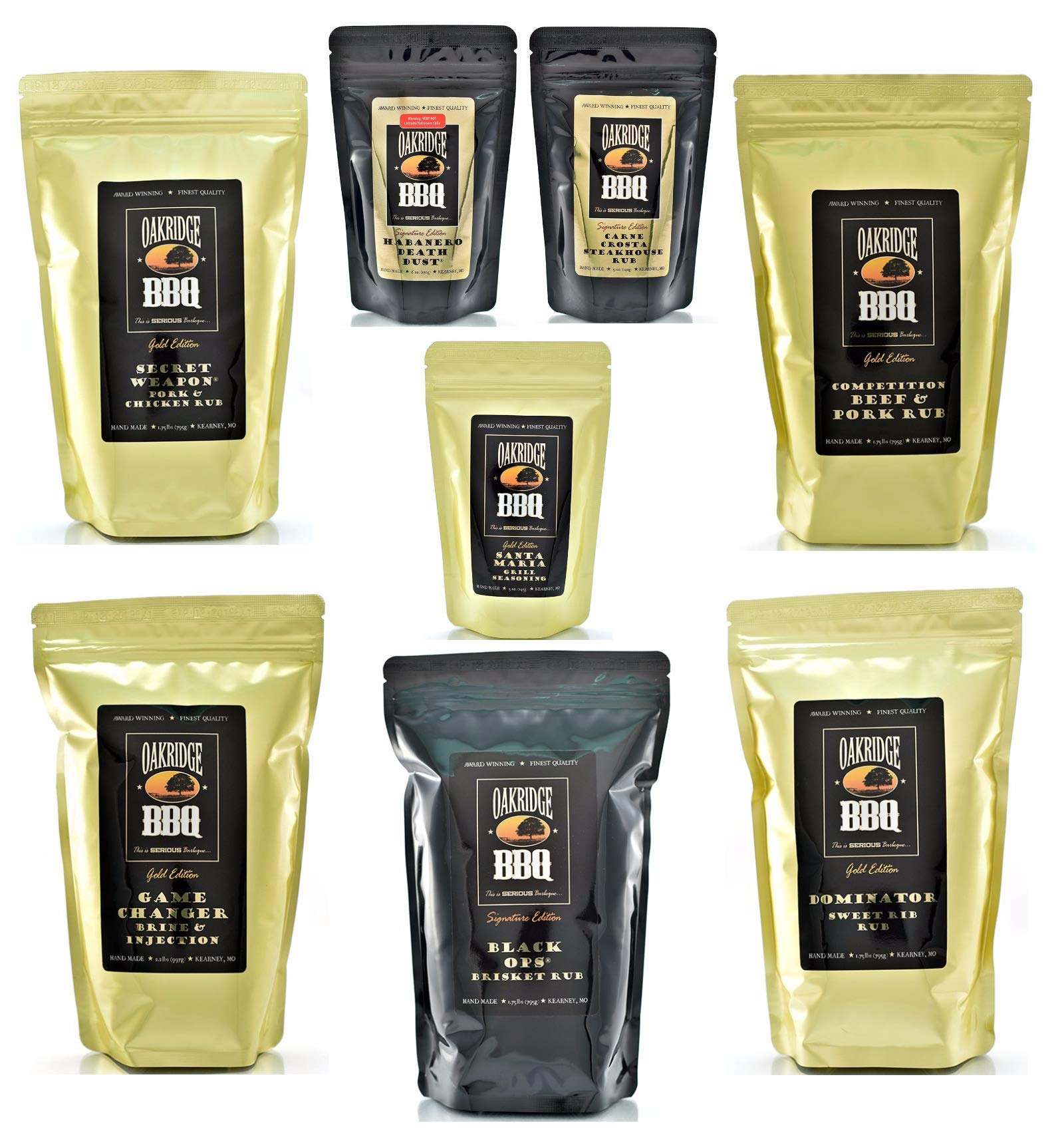 Oakridge BBQ The Ultimate Competition BarBQ Kit – Contains Eight (8) of the Most Popular Barbeque Rubs and Seasonings