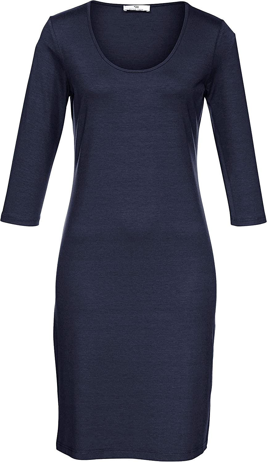 Peter Hahn Damen - Jersey-Kleid, blau, Damen-Cocktailkleid