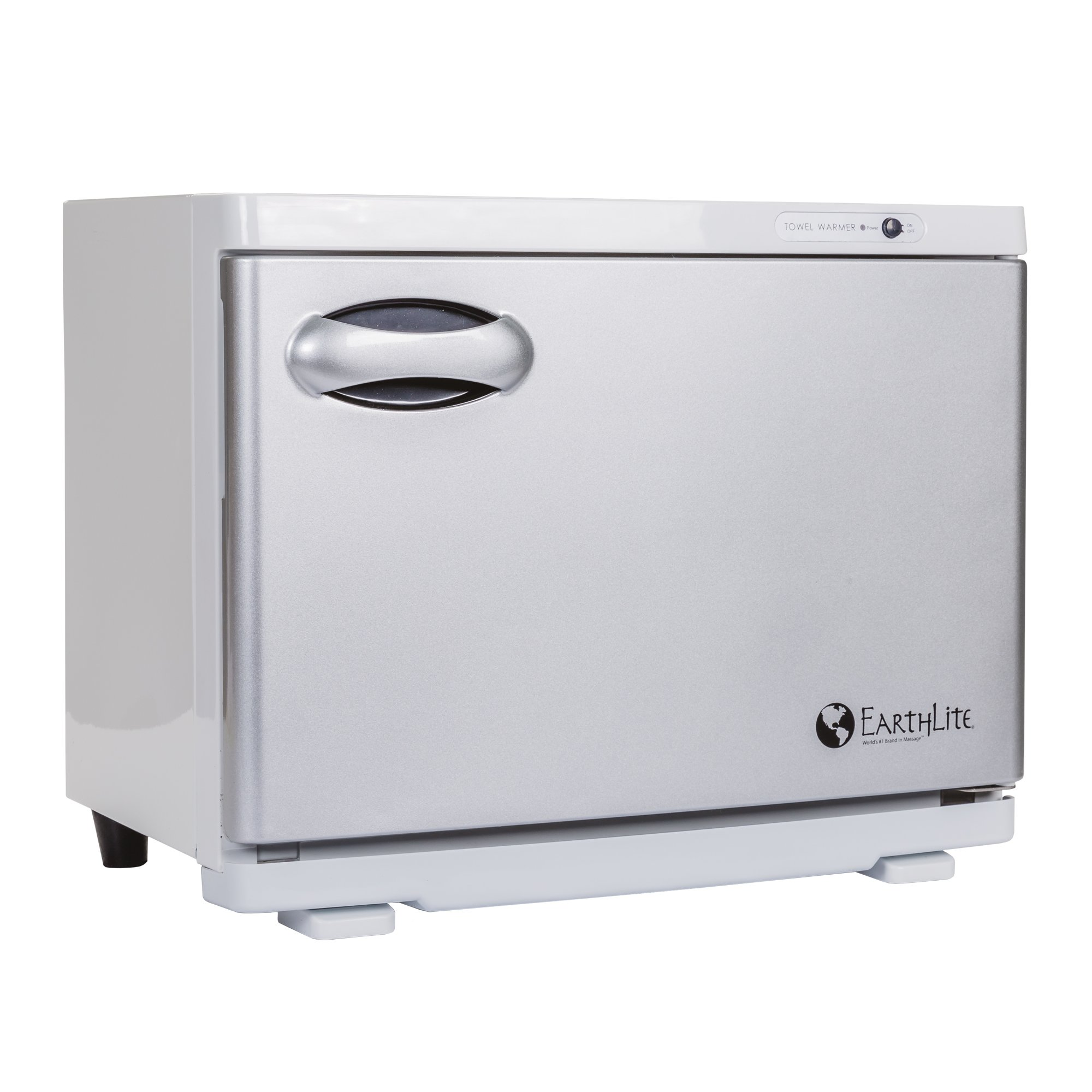 EARTHLITE Hot Towel Warmer Cabinet - UV Sanitizing, UL Listed, Rust Proof Interior, Aluminum Door, Extra Hot, 1 Year Warranty (18L)
