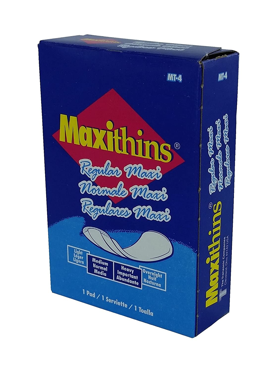 Maxithins Pad 10 Pack Individually Boxed Pad: Disposable Sanitary Napkins: Amazon.com: Industrial & Scientific
