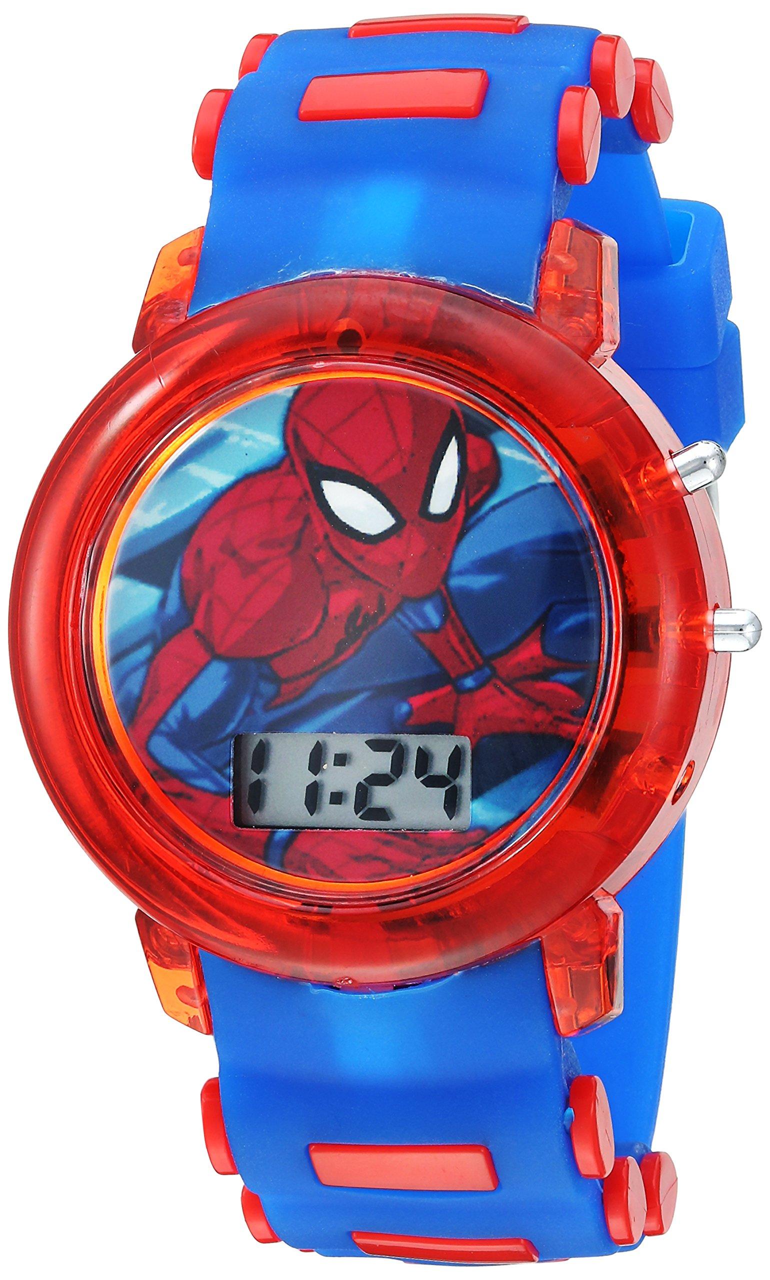 Marvel Boys' Quartz Watch with Plastic Strap, Blue, 20 (Model: SPD4464) by Marvel